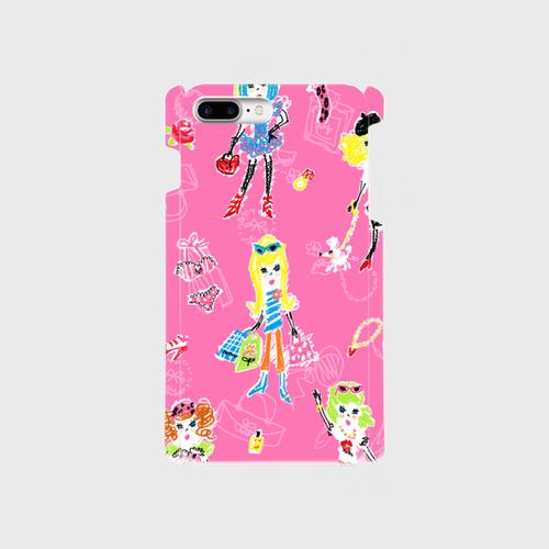 girlgirlgirl シェル型(大) スマホケース・受注生産¥3000