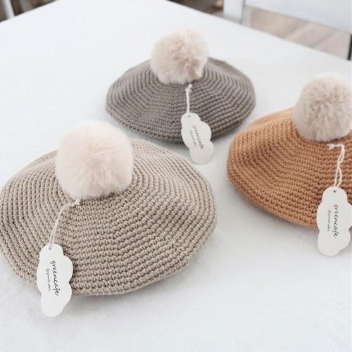 ポンポンベレー帽(M)