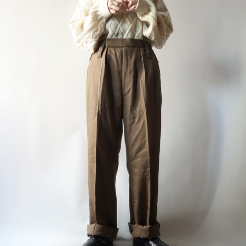 British army trousers / brown