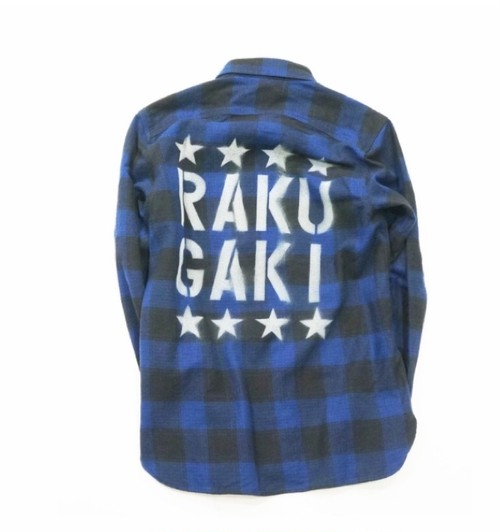 RAKUGAKI Work Check Nell Shirts  BLUE CHECK
