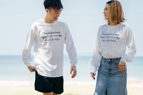 【受注限定復刻】ThreeArrowsロゴ L/S TEE(white)
