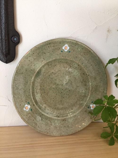 大﨑陽子 小花柄 リム皿
