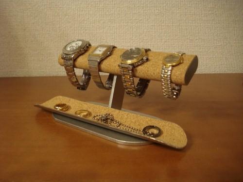 クリスマスに 腕時計スタンド だ円ロングトレイ4本掛け腕時計スタンド ak-design 130115