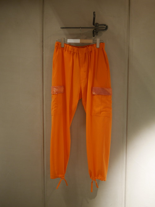 UNDER COVER / 2/90W easy cargo pants Bead embroidery (ORANGE)