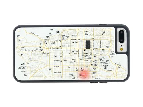FLASH 京都回路地図 iPhone7/8Plus ケース 白【東京回路線図A5クリアファイルをプレゼント】