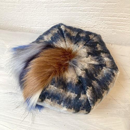 【LuLu de chapeau】MIXファーベレー帽