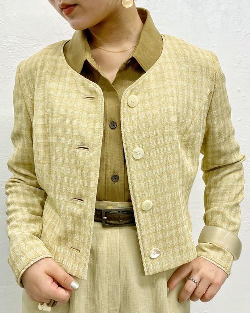 (PAL) plaid l/s shirt jacket