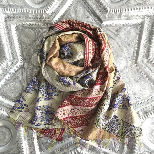 Kantha Silk Scarf (Reversible Type)