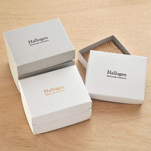 【名入れ箔押し】角留め箱 二つ折財布用 オリジナルギフトボックス 50個 145×115×37mm