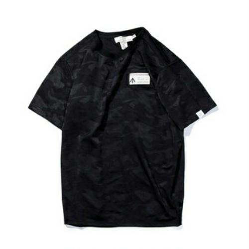 送料無料メンズ大きいサイズシャドー迷彩柄黒Tシャツ