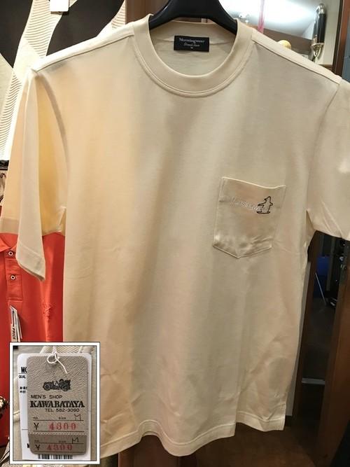 (M)マンシングウェア クリーム色のシンプルTシャツ 綿100%