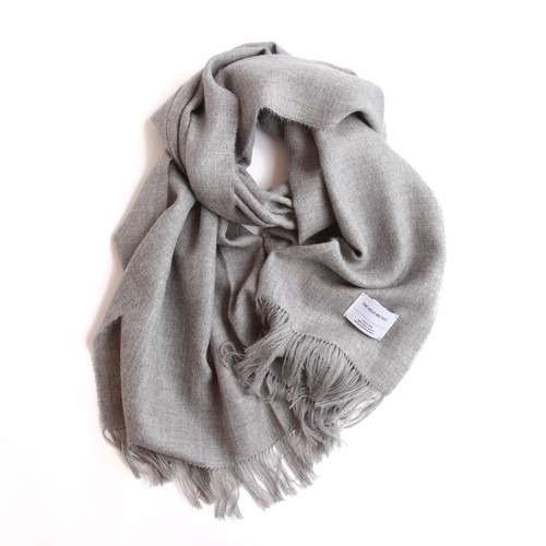 THE INOUE BROTHERS/Large Brushed Stole/Light Grey