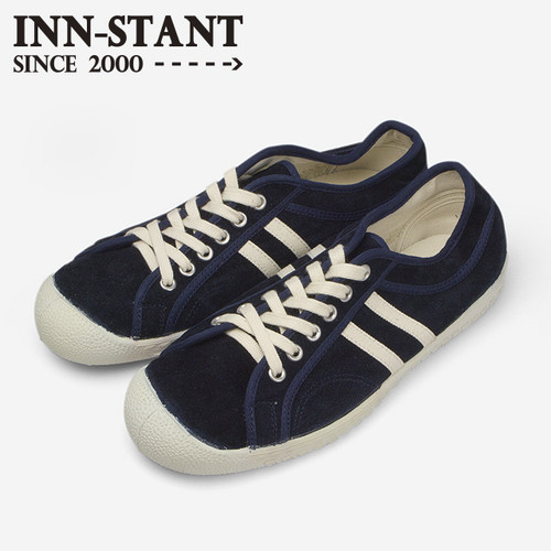 #302 SUEDE SHOES indigo/natural (white sole) INN-STANT インスタント 【消費税込・送料無料】