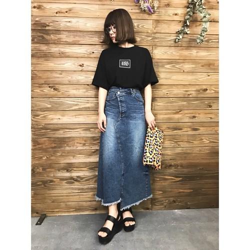 【SALE】バックスリットデザインデニムロングスカート【&mode】