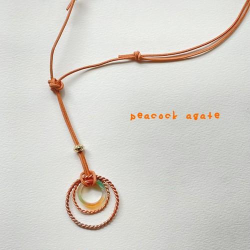 テンソルリング×孔雀瑪瑙のネックレス