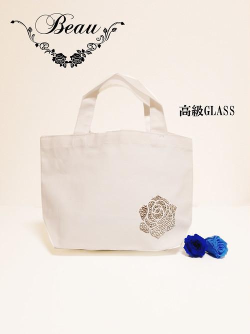 ミニバッグ(最高級ガラス)☆薔薇 オーダーメイド☆デコ☆キラキラ☆かわいい☆便利☆バック☆おでかけ