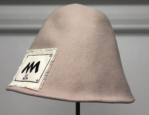 ALEX MULLINS WOOL FELT DOME HAT CREAM