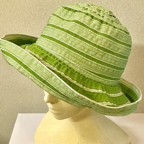 Item004 ZUCCOTTO 黄緑 帽子 レディース