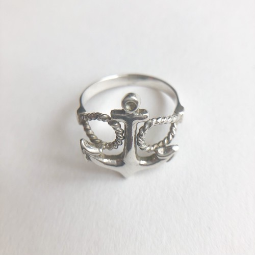 silver 925 anchor ring #8[r-]