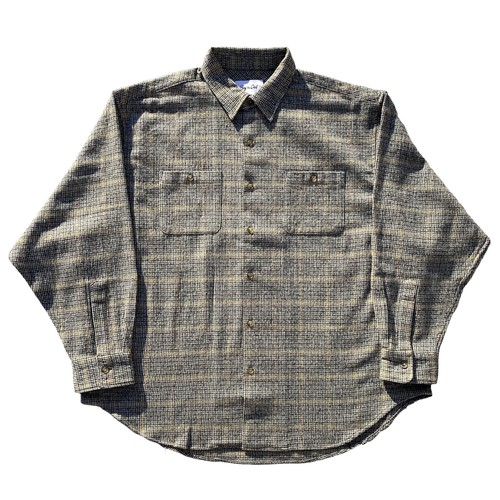 Flannel wide shirt(Mustard)