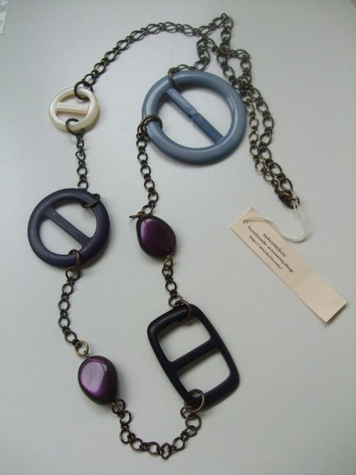 buckle mix necklace