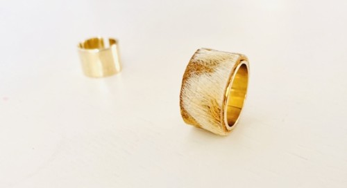 Double material ring
