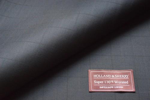 【Holland&Sherry】ネイビー・チェック生地