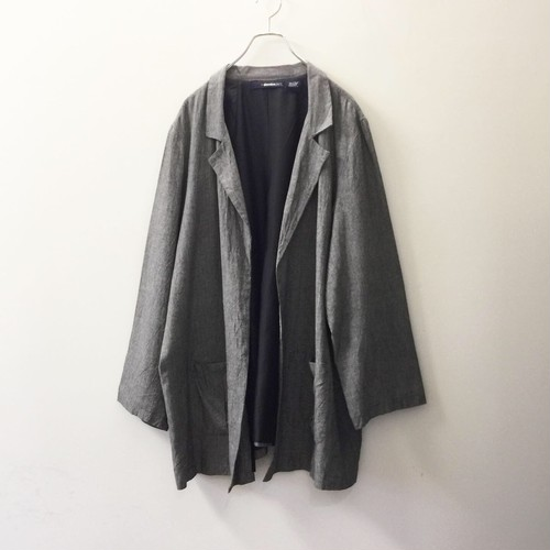 denim 24/7 羽織り ジャケット コットン グレー オーバーサイズ 古着