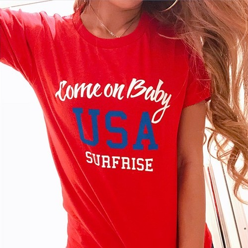 Come on baby USA Tee - Red