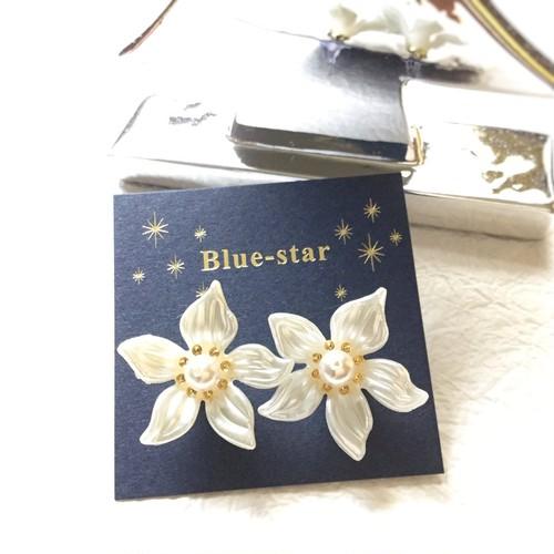 【残り1点】Blue-star フラワーピアス/イヤリング