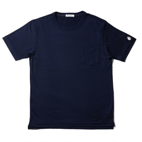 WOOL-BASE-Tshirt ネイビー