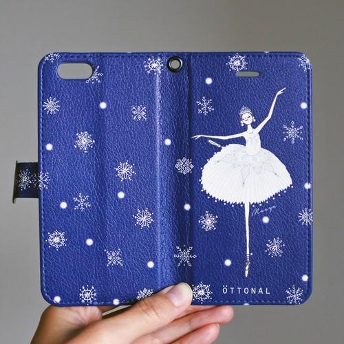(Android) 雪の女王 手帳型スマホケース