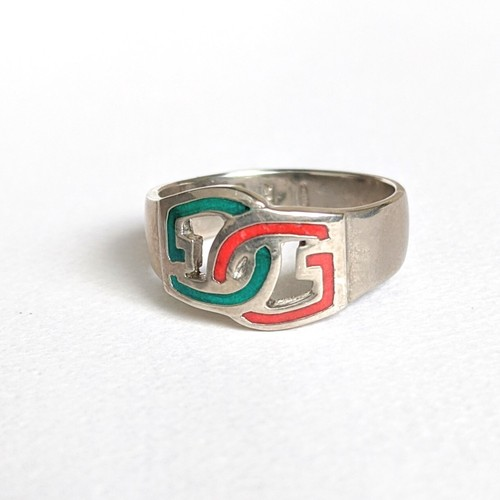 vintage silver ring -Gucci-