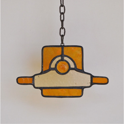 """Truck"" LOST OBJECT SERIES Stainedglass Room Mirror Pendant"