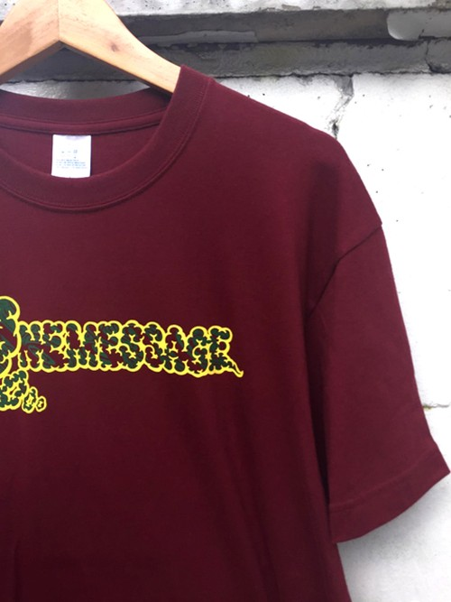 『ONE MESSAGE』T-shirt Burgundy