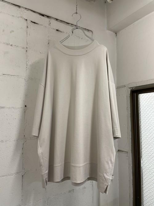 『VOAAOV』cotton jersey big tee / LIGHT GRAY