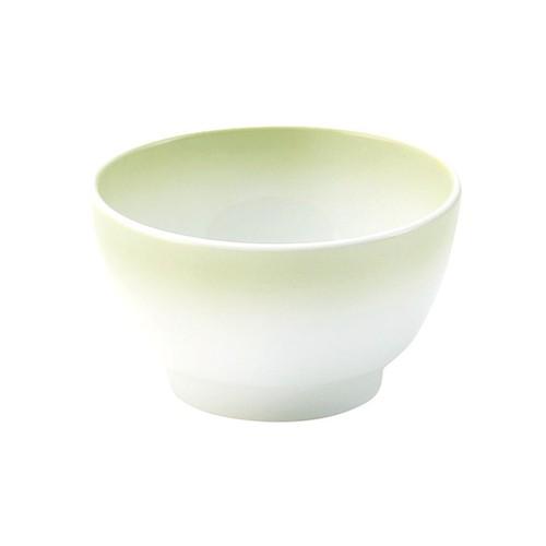 【2975-2780】深口丸小鉢(口径9.1cm) ぼかし若草