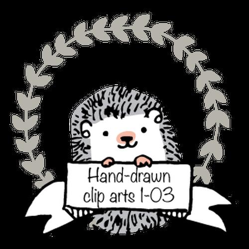 Hand-drawn circle clip arts 1-03