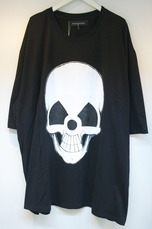 Daniel Palillo WORLD TOUR SKULL PRINT T-SHIRT(OS) ワールド ツアー スカル プリント Tシャツ / BLACK