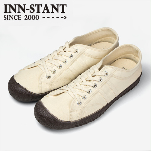 #113 CANVAS SHOES natural/natural (d.brown sole)   INN-STANT インスタント 【消費税込・送料無料】