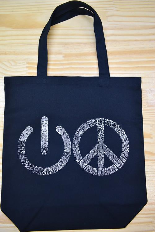 江戸小紋 トートバッグ 「平和スイッチ」