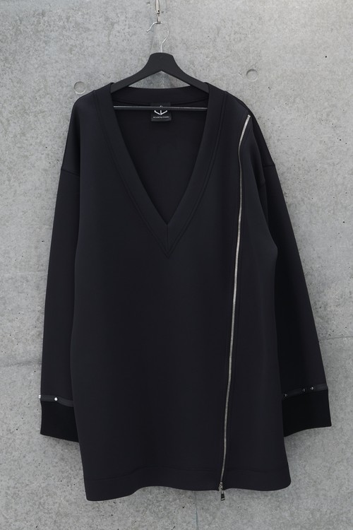 Over Jersey Sweater [Black]