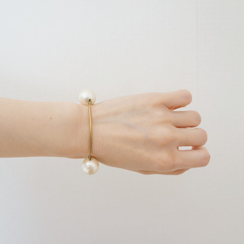 curve bracelet コットンパール