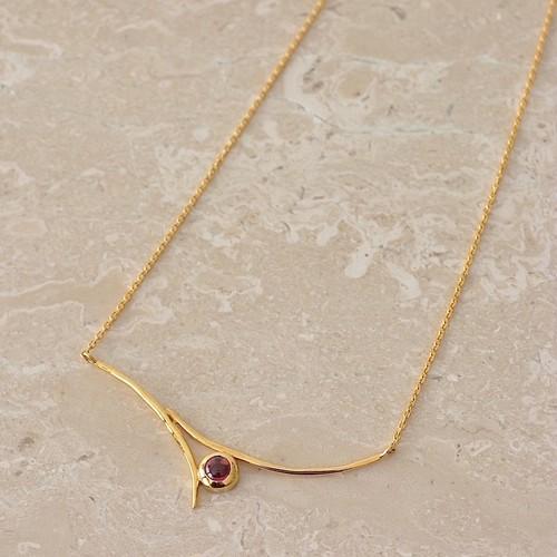 Jewelry Line【Onde】オンド ネックレス ロードライトガーネット(SJ0011)