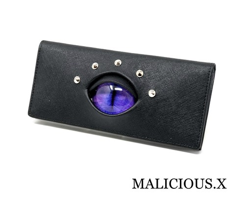 cat eye wallet / light purple × blue