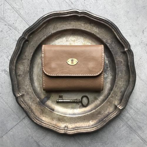 Morfeo Leather half-wallet / Gray beige