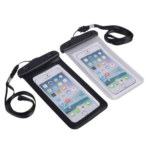 防水ケース JennyDesse ネックストラップ付属 潜水 お風呂 水泳 砂浜 水遊びなど用防水携帯ケースフォンケース・カバー IPX8認定獲得 iPhone SE/5/5s/6/6s/Plus/Galaxy Note5/S7edge/Xperia XZ/Z5P/Nexus 6Pスマホ防水ケースなど5.7インチ以下のスマホに対応 (ブラック)