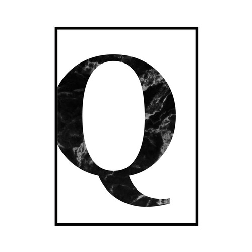 """Q"" 黒大理石 - Black marble - ALPHAシリーズ [SD-000518] B4サイズ フレームセット"