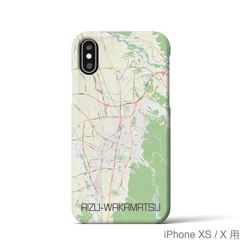 【会津若松】地図柄iPhoneケース(バックカバータイプ・ナチュラル)