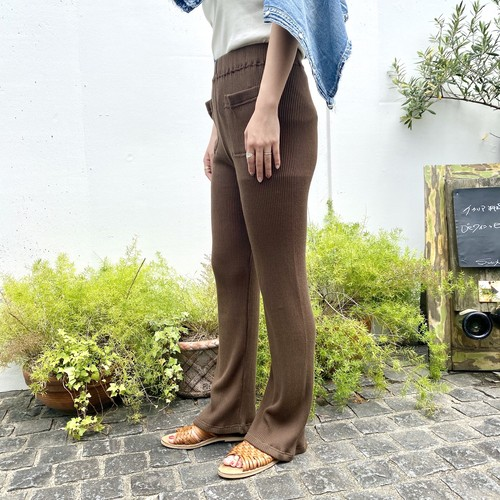 【BAD】Cotton Rib Pants